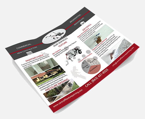 Central Florida Texture & Painting brochure